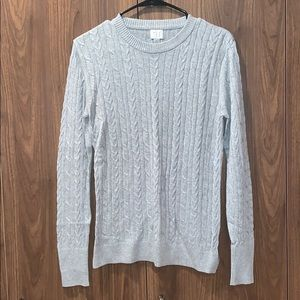 A New Day Gray Cable Knit Long Sleeve Sweater NWOT